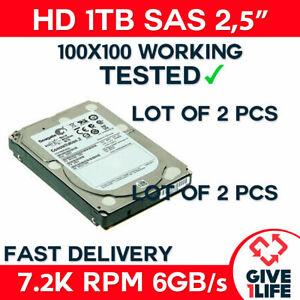 "2x ST91000640SS 1TB SAS 2,5"" HDD 7.2K ENTERPRISE 9RZ268-031 - SERVIDOR DELL HP"