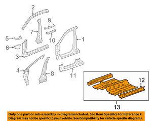 Acura HONDA OEM 09-10 TSX-Floor Pan Assembly 65100TL2A00ZZ