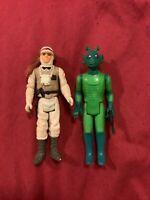 Star Wars LUKE SKYWALKER & 1978 GREEDO action figure hoth battle gear luke toys