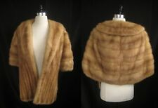 EMBA Autumn Haze Brown Pastel Caramel MINK STOLE Cape Shawl Wrap Coat Jacket