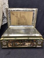 1989 Large Collectible Tin Box E. OTTO SCHMIDT 8500 Nurnberg Made in Germany