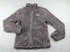 The North Face Womens Soft Warm Fleece LS Full Zip Solid Gray Coat Jacket XS