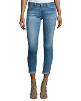 AG Adriano Goldschmied the Stilt roll up cropped jeans denim
