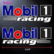 "9.5""x2p. mobil 1 formula racing oil auto lube decal sticker print full die-cut"