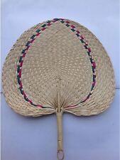 Vintage Thai Handicraft Fan From Nature Leaf Making handmade,Decoration Handle