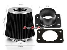 BLACK Mass Air Flow Sensor Intake MAF Adapter +Filter For 92-97 GS300 SC300 3.0L
