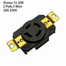 NEMA L15-20R Twist Lock Wall Mount Electrical Receptacle 4 Wire 20A 250V UL