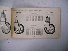 catalogue ancien 1937 roulettes pour meubles Ets L2ON christiaens Liège