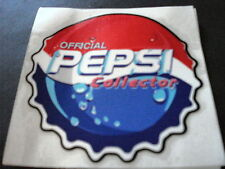 "PEPSI COLA OFFICIAL COLLECTOR DECAL, NEW, 4"" ROUND"