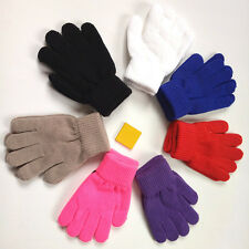 Children Gloves Winter Warm Knitted Mittens Red Kids Gloves For Boys Girls