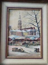 Gemälde Viktualienmarkt , München, Signiert. Alt
