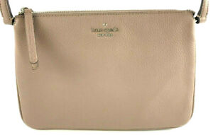 Kate Spade Jackson Brownstone Leather Triple Gusset Crossbody Handbag Purse