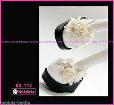 Custom Mary Jane SHOES For Blythe/Pullip/Lalaloopsy/Hujoo/Momoko - B3_112, White