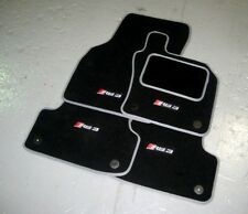 Audi RS3 8V (2015-Present) Car Mats In Black With Grey Trim + RS3 Logos (x4)