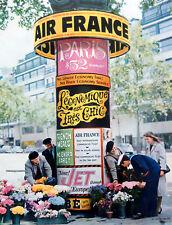 Vintage 1959 Air France airline Paris advertisement print ad art