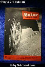 Motor Rundschau 22/62 Ford Taunus 17 M TS USA 1963 GM NSU Quick 50