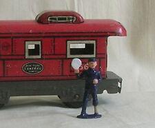 Railroad Signalman, O scale tinplate model train layout figure, Reproduction