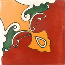 C#006) MEXICAN TILES CERAMIC HAND MADE SPANISH INFLUENCE TALAVERA MOSAIC ART