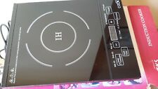 COOKS Induction Hob Portable Single Plate Cooker Electric Cooking Ring Black
