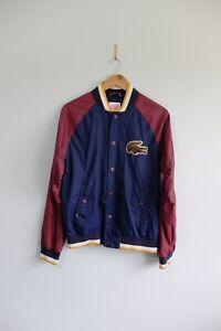 Vintage Lacoste Live bomber jacket M Burgundy Blue
