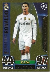 MATCH ATTAX UEFA CHAMPIONS LEAGUE 2015/16 CRISTIANO RONALDO GOLD LIMITED LE1G