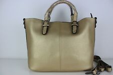 Gold Handbag women's ladies faux leather new design tote fashion shoulder bagNew