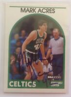 Mark Acres 1989 Hoops Hand Signed Card Boston Celtics