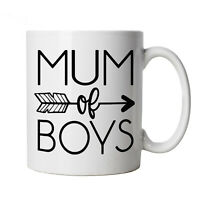 Mum Of Boys Arrow, Mug -  Mothers Day Best Mum Cup Gift