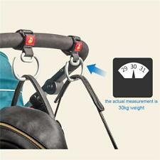 Aluminum Hook Clip Hanger for Stroller Pram Pushchair Wheelchair Handbag FW