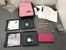 Nintendo DSi Matte Pinknw/ Charger Stylus Case Mario & Sonic Family Game Night