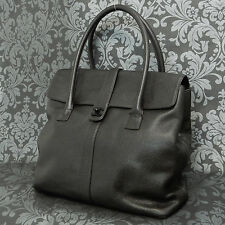 Rise-on Vintage CHANEL Dark Brown Caviar Skin Leather Tote bag Handbag #1756