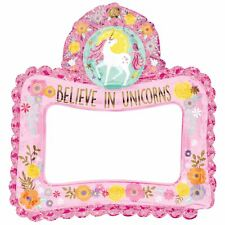 Magical Unicorn Air Inflatable Photo Frame Selfie Prop Girls Kids Birthday Party