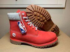 Men's Timberland NBA 6 Inch Premium Boots Houston Rockets A249E A3240 Size 11.5