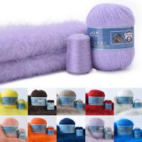 50+20g Soft Mink Velvet Wool Yarn Luxury Long Plush Cashmere Crochet Winter Warm