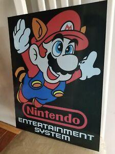 Nintendo STORE display sign MARIO BROTHERS ARCADE RETRO STYLE