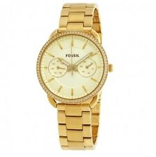 NEW Fossil Ladies Tailor Gold Tone Crystal Womens Jewellery Watch ES4263