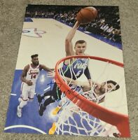 KRISTAPS PORZINGIS SIGNED 8X10 PHOTO DALLAS MAVERICKS NBA C W/COA+PROOF RARE WOW