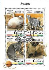 GUINEA 2018 CATS MINT VF NH O.G S/S CTO (GU6 )