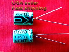 3 pcs  -  120uf 35v   radial electrolytic capacitors FREE SHIPPING