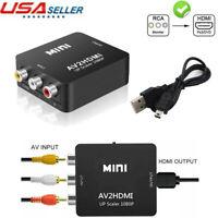 Mini RCA AV to HDMI Converter Adapter 1080P 720P AV Input to Hdmi Video Output