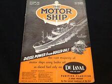VINTAGE 1953 THE MOTOR SHIP DE LAVAL TYPE VIB 1929C DIESEL POWER FROM BOILER OIL