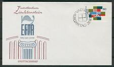 FDC V84 Liechtenstein 1967 1v Flags EFTA countries