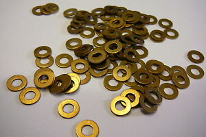M4 BRASS WASHERS SOLID BRASS (4mm WASHERS 50-PACK)