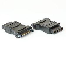 4 Pin SATA IDE Power Courant Adaptateur SATA Connecteur sur Molex Femelle Noir 46 mm