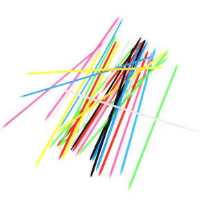 30PCS Colorful Plastic Children Educational Mikado Spiel Pick Up Sticks^qi