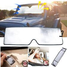 Front Windshield Sun Shade Visor Blocks UV Rays Sunshade For Jeep JK Wrangler