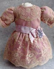 Beautiful  Bebe doll  silk  dress, German/French antique doll