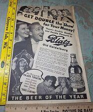 Neat 1937 ad Bing Crosby Famous stars Blatz Beer Steinie Bottle Milwaukee WI Wis