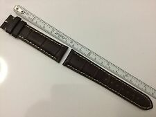 AUTHENTIC LONGINES NEW 19MM BROWN GENUINE ALLIGATOR LEATHER STRAP BAND BRACELET