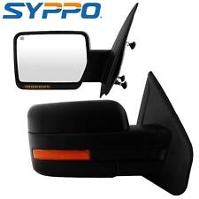 For 07-14 Ford F150 View Mirrors Power Heated Turn Signal Puddle Light Reflector